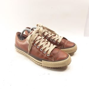 Converse All Star Men's Brown Leather Sneakers 8.5